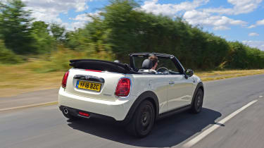 Mini Cooper Convertible Moving Rear
