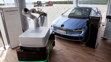 Volkswagen Gen.E with charging robot