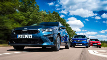 Kia Ceed SW vs Renault Megane Sport Tourer vs Skoda Octavia Estate - header