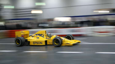 F1 car indoors