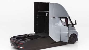 Tesla Semi Truck model - rear 3/4 door open