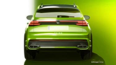 Volkswagen Taigo - full rear sketch