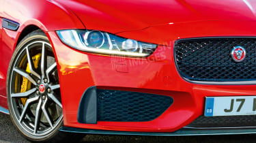 Jaguar XE SVR - front detail (watermarked)