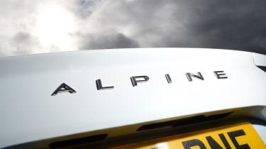 Alpine A110 rear badge