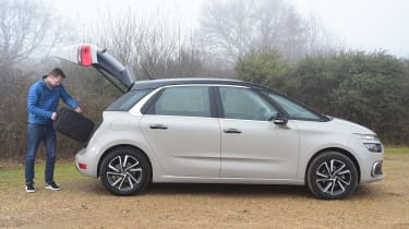 Citroen C4 Picasso long termer second report - Sean Carson luggage