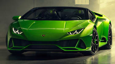 Lamborghini Huracan Evo Spyder - garage front 3/4