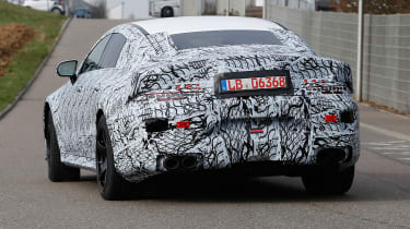 Mercedes-AMG GT four door spied rear dead on