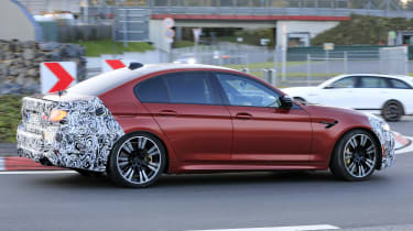 BMW M5 facelift - spyshot 5