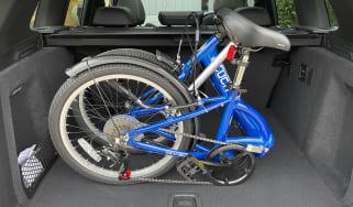 Folding bike in car boot