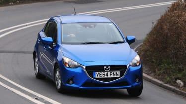Mazda 2 - front cornering