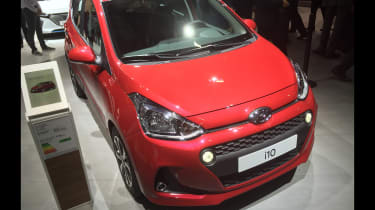 Hyundai i10 facelift - Paris front three quarter