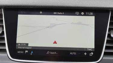 Vauxhall Crossland X - sat-nav detail