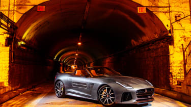 Jaguar F-Type SVR Tunnel Run - front three quarter