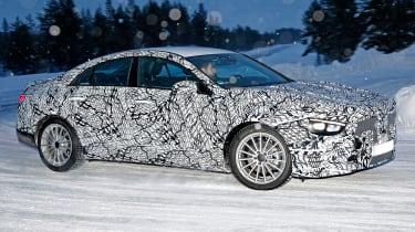 Mercedes CLA spied - side
