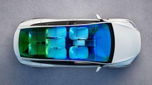 Tesla Model X facelift - above