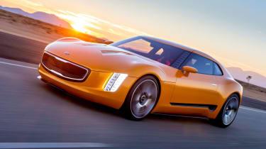 Kia GT4 Stinger action