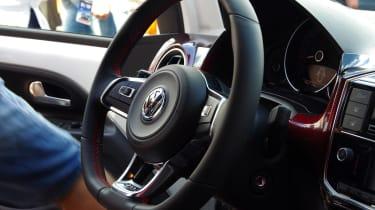 Volkswagen up! GTI Worthersee reveal  steering wheel