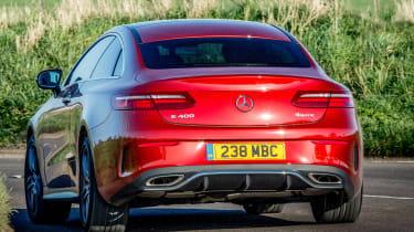 Mercedes E 400 d  Coupe - rear cornering