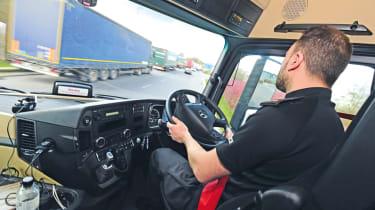 Police lorry interior