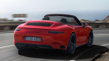 Porsche 911 Carrera 4 GTS Cabriolet - rear action