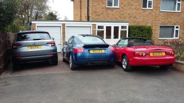 Colin Smith's Mazda MX-5, Audi TT and Skoda Karoq
