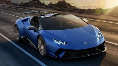 Lamborghini Huracan Performante Spyder - front action