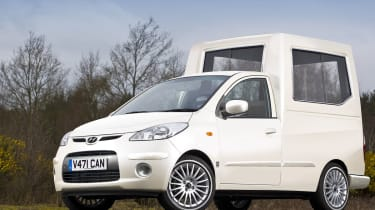 """<span>Hyundai treated us to an unlikely modified version of its i10 city car in on April Fools Day 2009.</span>  <span>The premise behind the&nbsp;</span><a href=""""https://www.autoexpress.co.uk/hyundai/i10"""">i10</a><span>&nbsp;Special"""