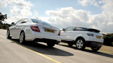 Range Rover Evoque Coupe SD4 Prestige vs Mercedes C250 CDI Coupe