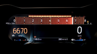 Ford Mustang EcoBoost Convertible - rev counter