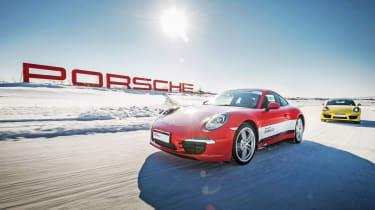 Porsche ice driving feature