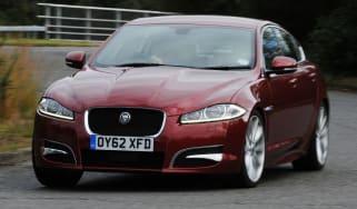 Jaguar XF front cornering