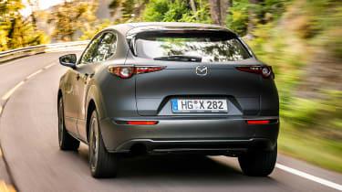 Mazda EV prototype - rear tracking