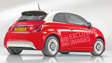 Electric Fiat 500 exclusive image rear