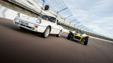 Reliant Scimitar SST and Caterham Seven K Series