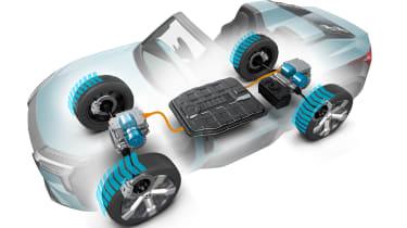 Mitsubishi MI-TECH concept - powertrain sketch