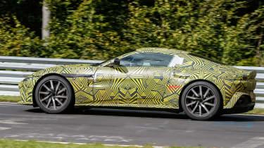 Aston Martin Vantage spy shot side profile