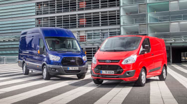 Ford Transit and Ford Transit Custom - front