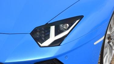 Lamborghini Aventador S Roadster - front light