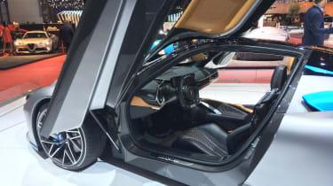 Pininfarina Battista at Geneva Motor Show 2019 grey interior