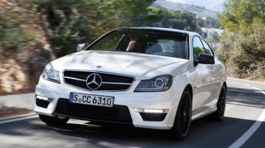 Mercedes C63 AMG Coupe front tracking