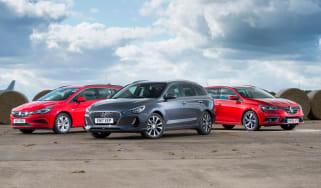 Hyundai i30 Tourer vs Vauxhall Astra Sport Tourer vs Renault Megane Sport Tourer - header