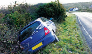 Car crash, insurance, write-off, accident