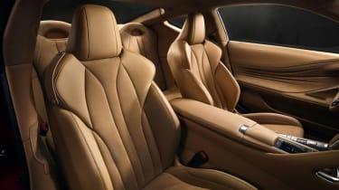 Lexus LC500 - front seats