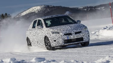 Vauxhall Corsa winter testing - front