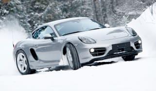 Porsche Cayman S front cornering