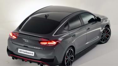 Hyundai i30 Fastback N - above rear