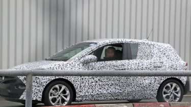 2018 Vauxhall Corsa spy shots side