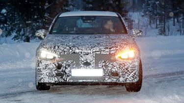 Mercedes CLA spied - front