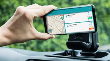 Fiat Panda Waze navigation
