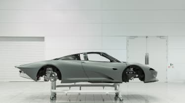 McLaren Speedtail - monocoque shell - side static
